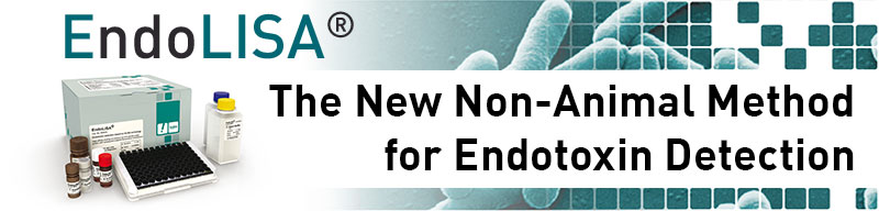 Banner Hyglos - EndoLISA - The new non Animal Method for Endotoxin Detection
