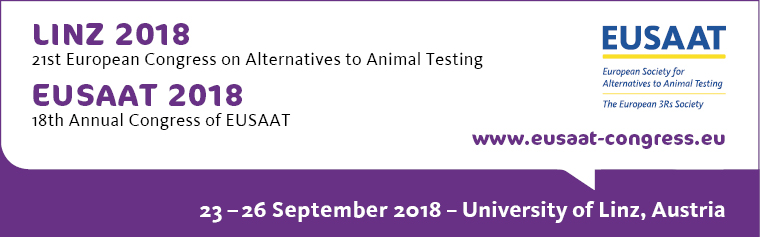 21st European Congress on Alternatives to Animal Testing, September 23-26 2018, University of Linz, Austria